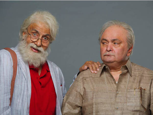 First Look Amitabh Bachchan Rishi Kapoor From 102 Not Out