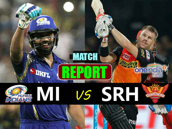 Ipl 2017 Live Mumbai Indians Vs Sunrisers Hyderabad T Match