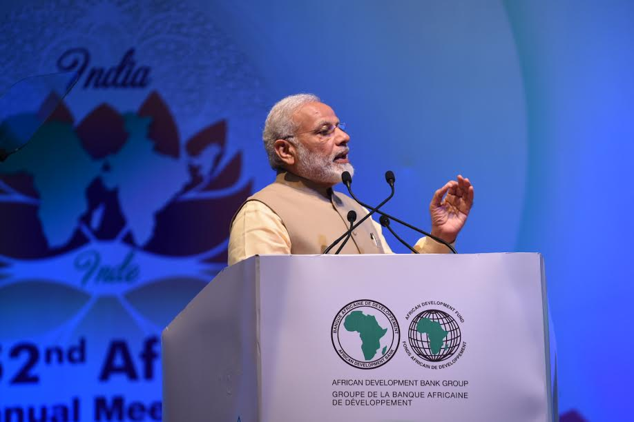 Pm Narendra Modi Inaugurated African Bank Meet At Mahatma Madir