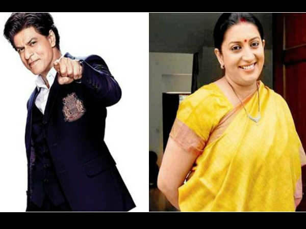 Shah Rukh Khan Shares Reveals Secret About Smriti Irani S Da