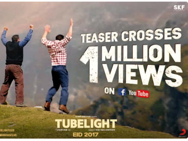 Tubelight Crosses 1 Million Less Than 2 Hours