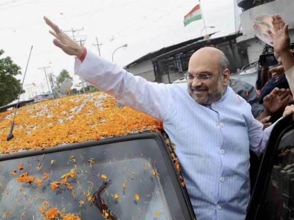 Amit Shah Says Vijay Rupani Yeddyurappa Will Be Bjp S Cm Fac
