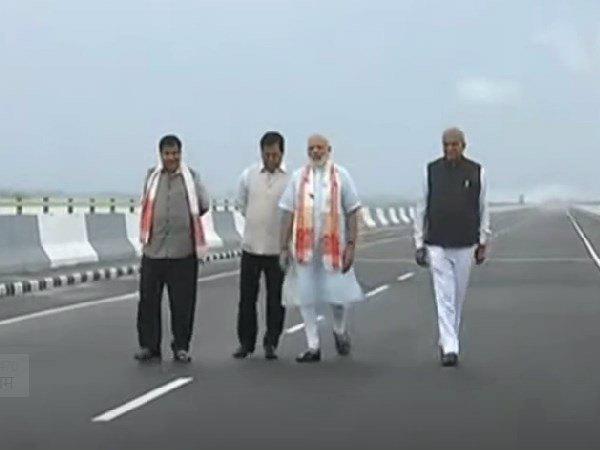 Pm Modi Inaugurates Nation S Longest Bridge In Assam