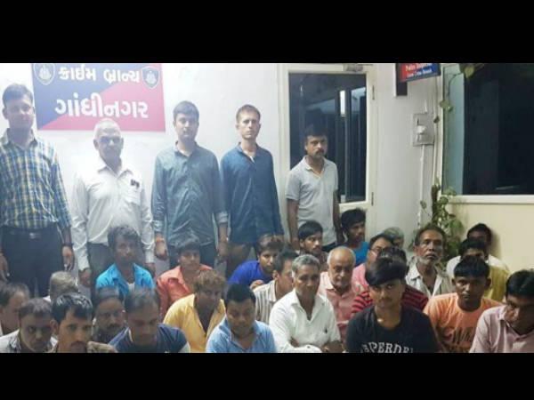 ગાંધીનગર ક્રાઇમ બ્રાન્ચની રેડમાં 30 જુગારીઓ ઝડપાયા
