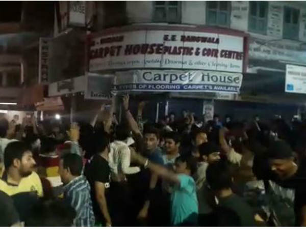 Surat Police Lathi Charge On Over Enthusiastic People Celebr