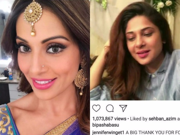 Bipasha Likes Husband Ksg Ex Wife Jennifer Winget Vid Unlikes After Being Trolled