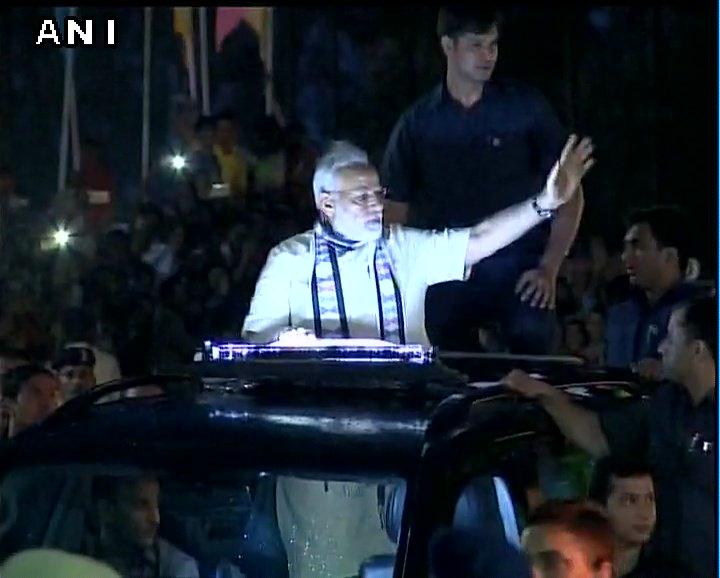 Narendra Modi Grand Road Show Rajkot