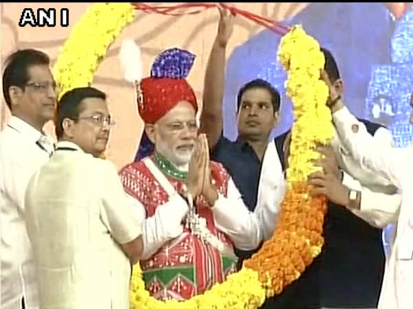 Narendra Modi At Inauguration Ceremony Two Water Projects Gujarat