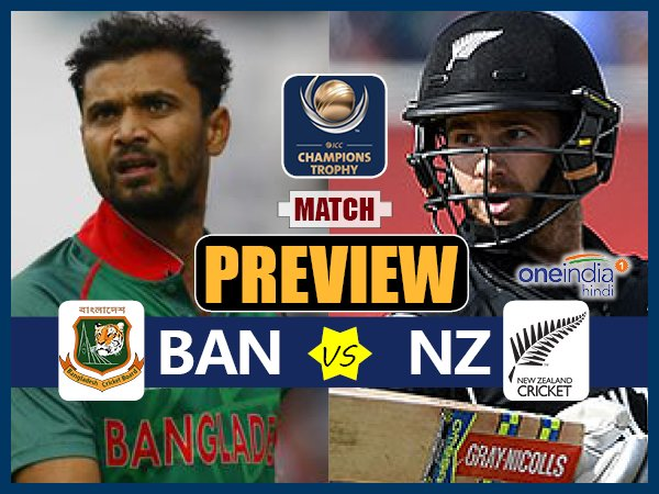 Champions Trophy 2017 Match Preview New Zealand Vs Bangladeh On June