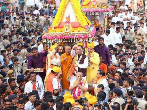 Ahmedabad Rathyatra Cm Vijay Rupani Deputy Cm Nitin Patel