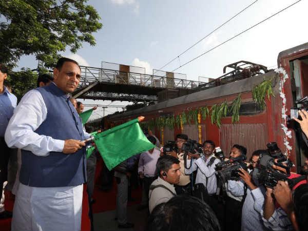 Ahmedabad Spl Gandhi Darshan Train Was Flagged Off Today Gujarat Cm From Sabarmati Station
