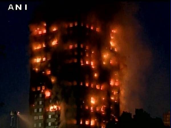 Fire Engulfs 27 Storey Tower Block Latimer Road West London