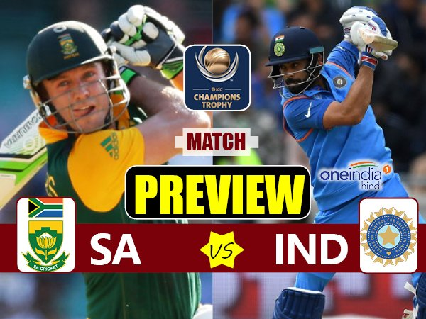 Champions Trophy 2017 Match Preview Of India Vs South Africa On June
