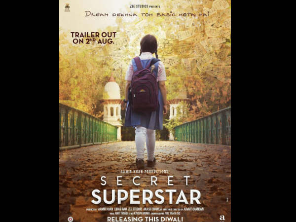 Aamir Khan Unveils The First Look Poster Secret Superstar