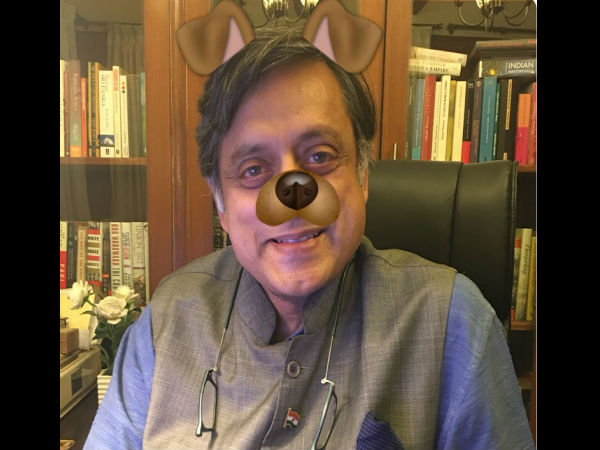 After Aib Row Shashi Tharoor Takes Dog Filter Challenge