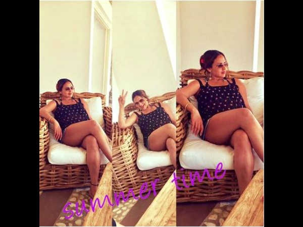 Pregnant Actress Esha Deol Shares New Pic Missing Rain In Mumbai