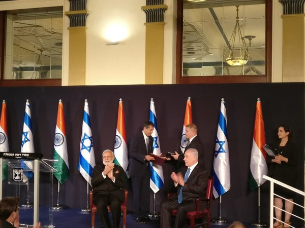 India Israel Exchange 7 Agreements