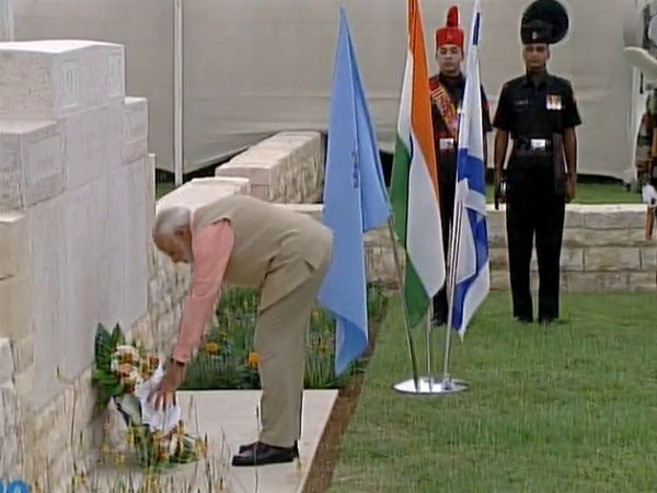 Narendra Modi Paid Homage The Haifa Cemetery
