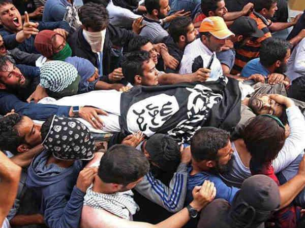 Terrorist Killed Encounter Found Draped With Isis Flag