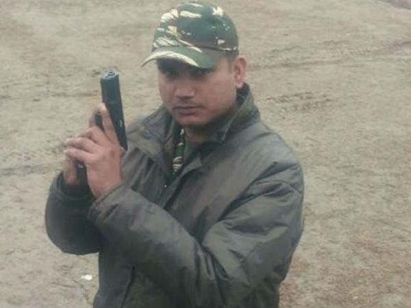Martyre Dinesh Borse Deadbody Ahmedabad