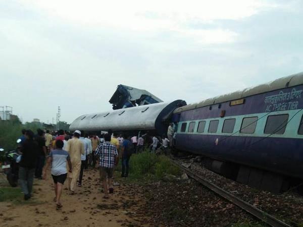 Puri Haridwar Kalinga Utkal Express Derails Muzaffarnagar