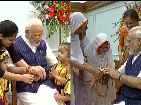 Pm Modi President Ram Nath Kovind Guj Cm Vijay Rupani Celebr