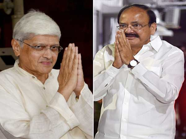 Vice Presidential Election 2017 Venkaiah Naidu Vs Gopalkris