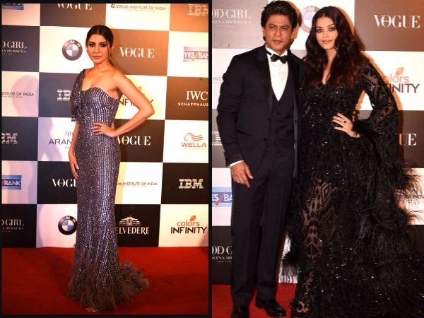 Aishwarya Rai Bachchan Bonds With Shahrukh Khan Gauri Khan At Vogue Women Of Year Awards Pictures