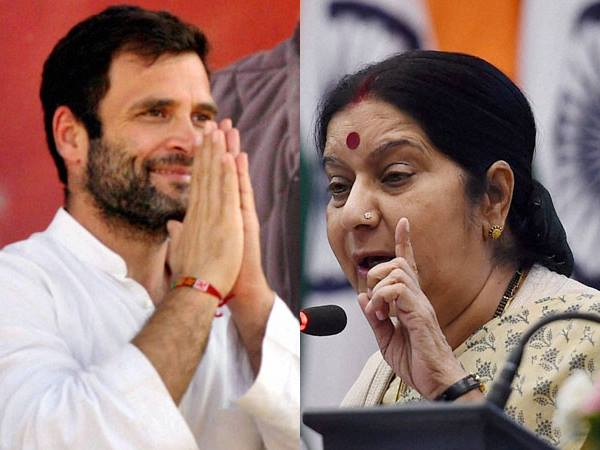 Rahul Gandhi Says Thanks Sushma Swaraj Acknowledging Congress Vision