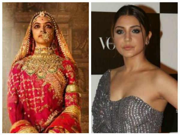 Anushka Sharma Sparks Controversy With Deepika Padukone S Padmavati Poster