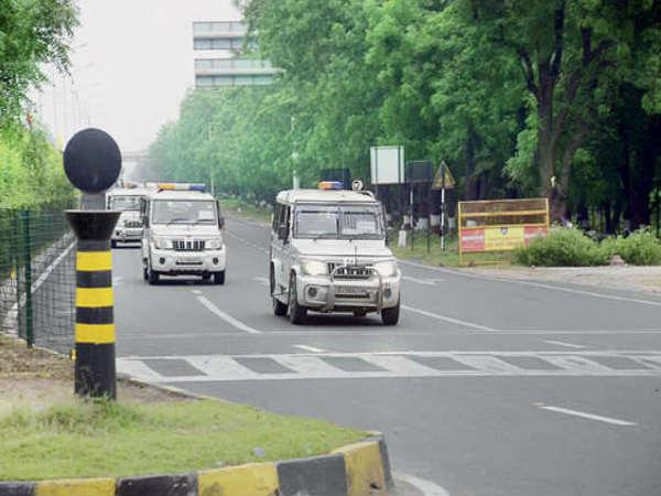 Secure Security Took Place On Gandhinagar Visit Narendra Mod