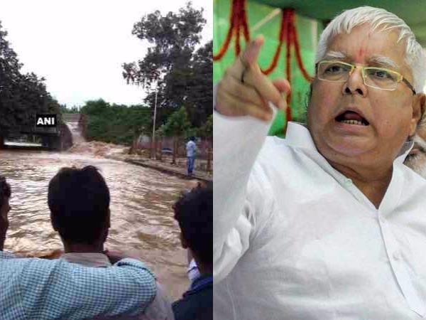 Rs 389 Crore Dam Bihar Collapses Lalu Prasad Yadav Targets N