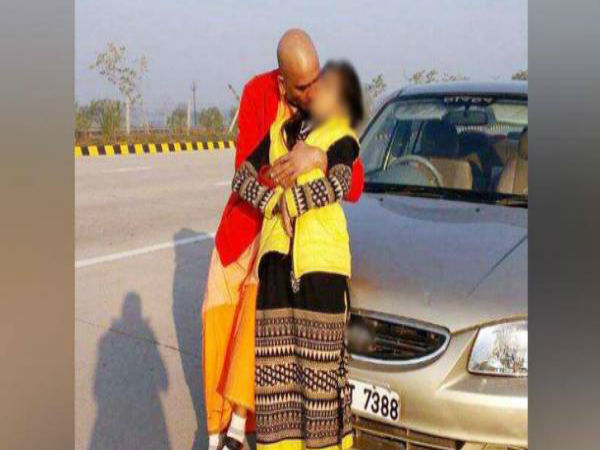 Kissing Baba Photo With Girl Goes Viral On Social Media
