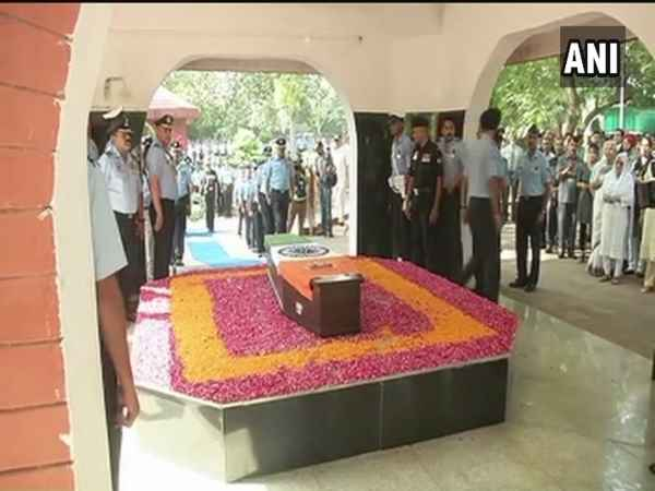 Last Rites Ceremony Of Marshal Air Force Arjan Singh At Delhi Brar Square