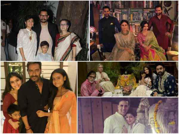 બોલીવૂડ સ્ટાર્સની દિવાળી, પરિવાર સાથે સેલ્ફી!