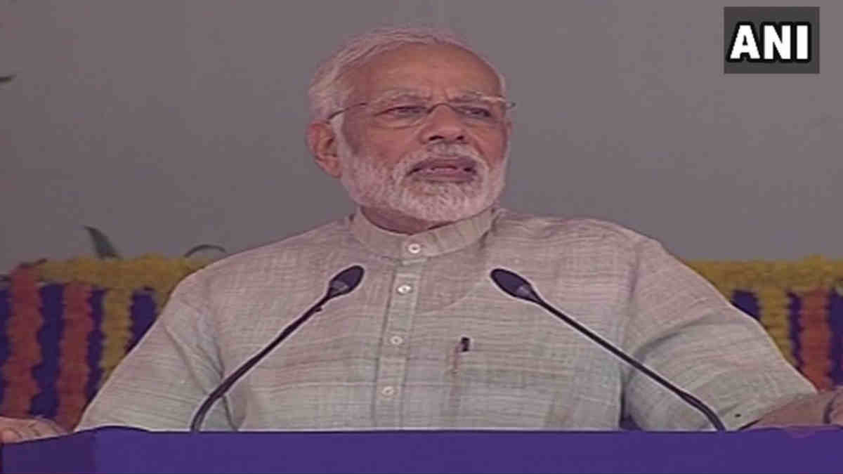 Gujarat Pm Modi At Foundation Stone Laying Ceremony At Dwarka