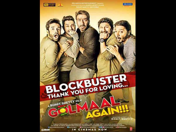 Golmaal Again Crosses 200 Crore Mark At The Worldwide Box Office