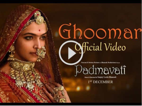 The First Song Padmavati Starring Deepika Padukone Shahid K