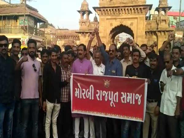 Morbi Rajput Community Protest Against Bhansali S Film Padm