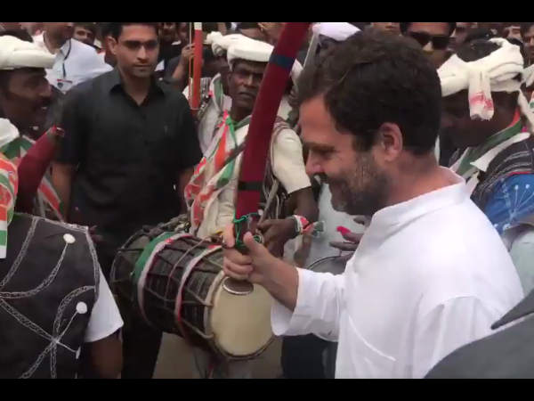 Rahul Gandhi Gujarat Performed Folk Dance At Devgadh Baria