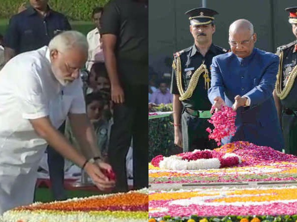 Pm Modi President Kovind Other Pays Homage To Mahatma Gandhi