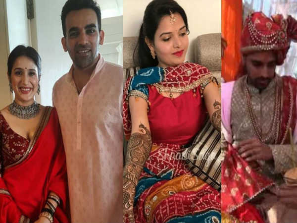 Cricketer Zaheer Khan Bhuvneshwar Kumar Marriage Pics