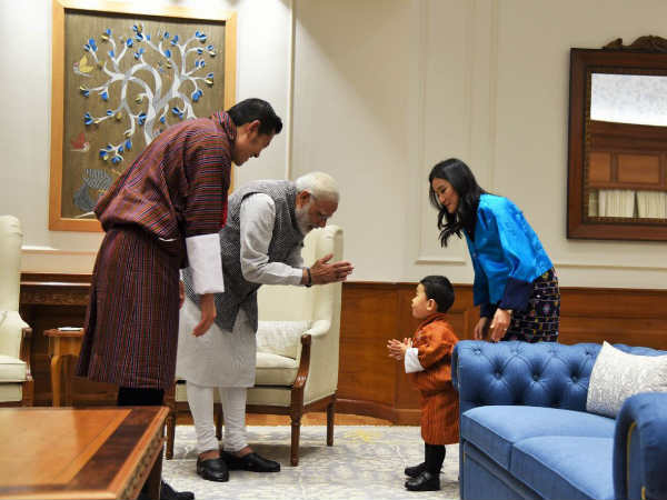 Photos The Little Bhutanese Prince Greeting Modi Winning P