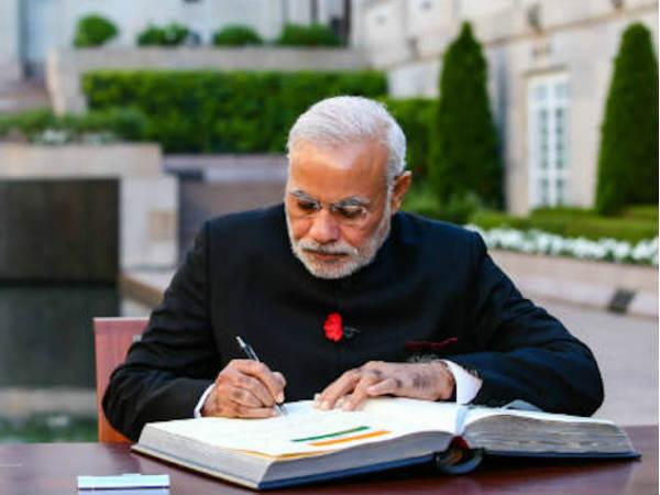 Pm Narenrdra Modi Pens Down Letter People Gujarat Ahead Asse