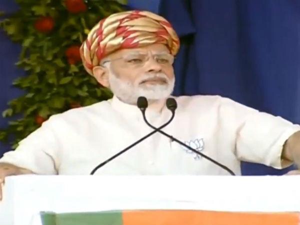 Pm Narendra Modi Addresses Public Meeting At Palitana