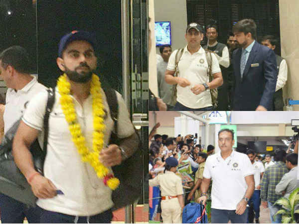 Team India Arrives Rajkot T20 Match Against New Zealand