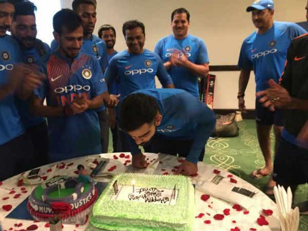 Rajkot Cricket Virat Kohli Celebrate His Birthday At Rajkot