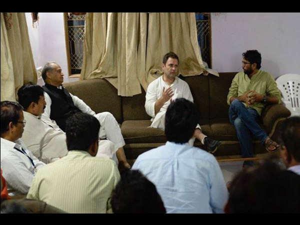 Rahul Gandhi Met Jignesh Mevani At Navsari