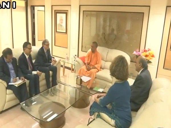 Cm Yogi Adityanath Bill Gates Held Meeting Lucknow Dignitaries Also Present