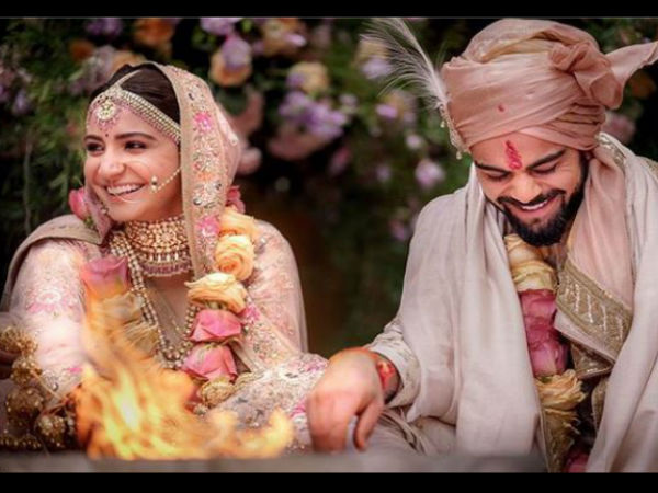 Anushka Sharma Virat Kohli Got Married At A Private Ceremony In Itly See Beatiful Pics